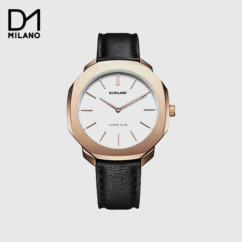 D1 Milano  - Super Slim Black/Gold with White Dial