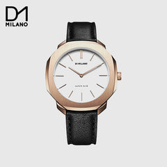 D1 Milano - Super Slim Black/Rose Gold with white Dial