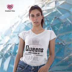 T-shirt - Queens are born in April