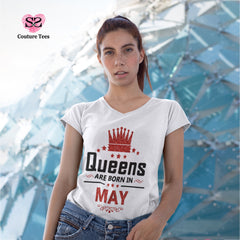 T-shirt - Queens are born in May