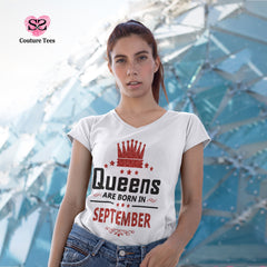 T-shirt - Queens are born in September