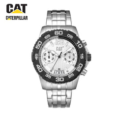 CATERPILLAR - drive stainless-steel silver strap with white dial