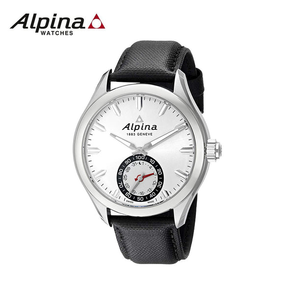 ALPINA - Horological Smart Watch with Black Leather Band