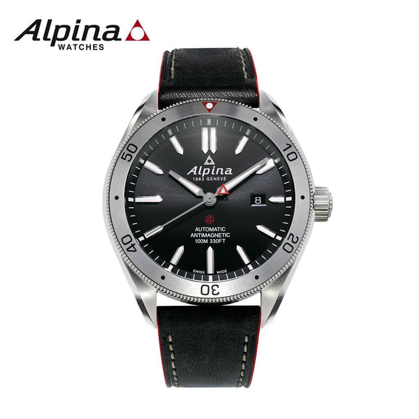 ALPINA - Alpiner 4 Automatic self-wind  Watch with Leather Black Strap