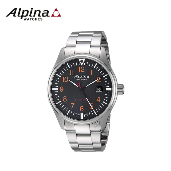 ALPINA - Startimer Swiss-Quartz Watch with Stainless-Steel Strap Silver