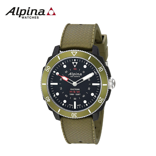ALPINA - Horological Smart watch Stainless Steel Quartz Sport Rubber Strap Green