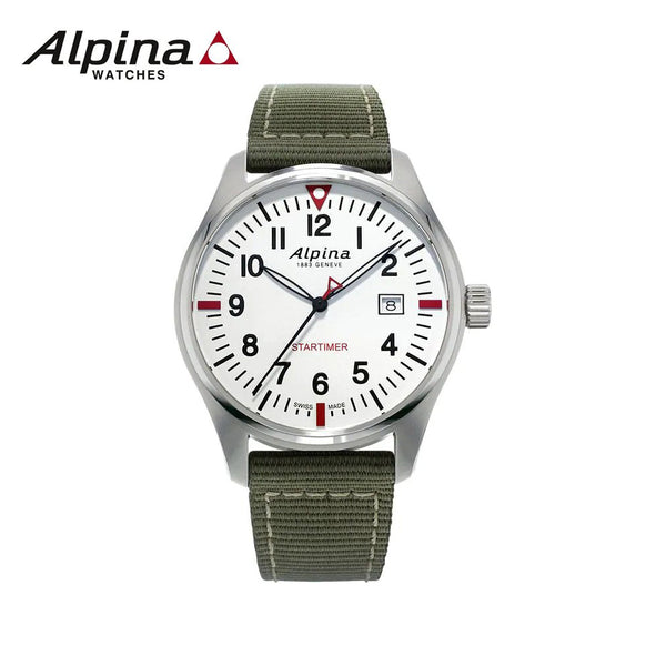 ALPINA - Star Timer Swiz Quartz Watch with Nylon Strap