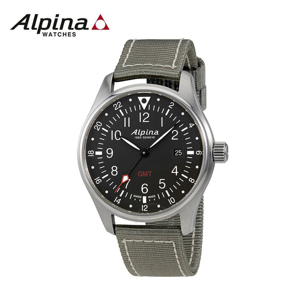 ALPINA - Startimer Stainless Steel Swiss-Quartz Watch with Nylon Strap grey