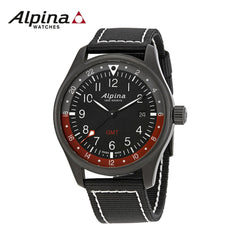 ALPINA - Startimer Pilot Quartz with Black Nylon Strap