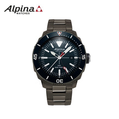 ALPINA - Seastrong Diver  Watch with Blue dial and Stainless steel Black  strap