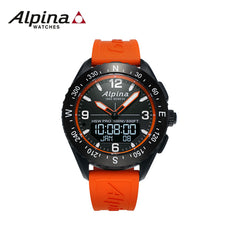 ALPINA - Alpinerx Watch with Orange Strap
