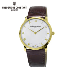 FREDERIQUE CONSTANT - Slimline White Dial Leather Strap Watch