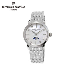 FREDERIQUE CONSTANT - Slimline Moonphase Swiss Quartz Stainless Steel Casual Watch
