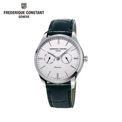 FREDERIQUE CONSTANT - Classics Silver Dial Leather Strap Watch