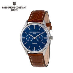 FREDERIQUE CONSTANT - Classics Quartz Stainless Steel Watch Leather Band