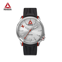 REEBOK - FlashLine  Black Silver Silicone watch