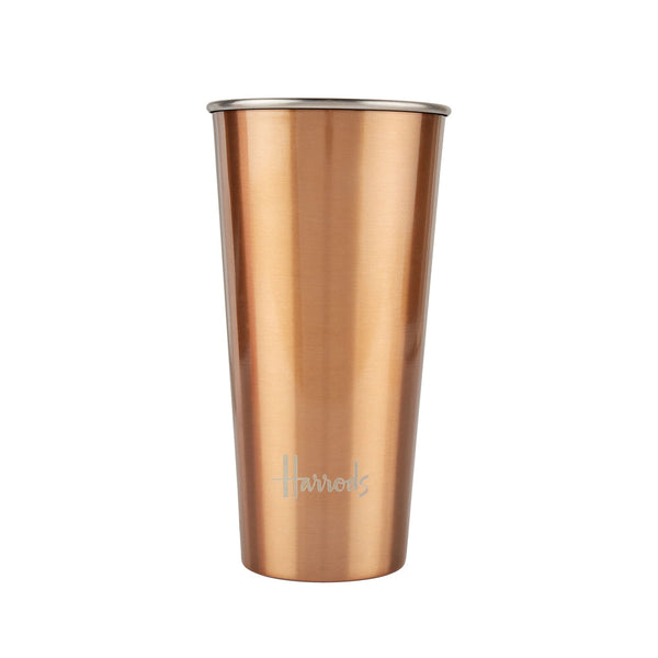 HARRODS - Logo Travel Coffee Cup - gold