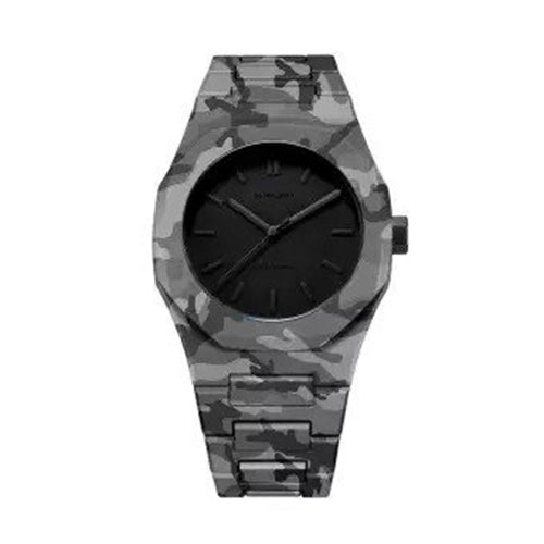 D1 Milano - Polycarbon Camo Grey with black dial