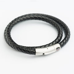 Double Leather Bracelets - Black