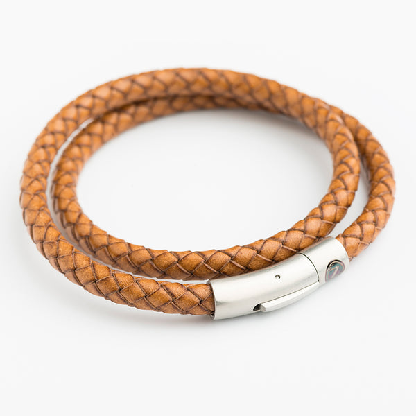 ZUS - Double Leather Bracelets - Light Brown