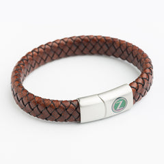 Wide Leather Bracelets - Dark Brown