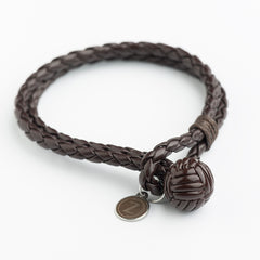 Sphere Style Leather Bracelets - Dark Brown