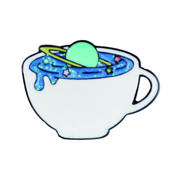 Pin - Cup With Blue Saturn