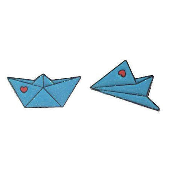 Pin - Blue Kite + Ship