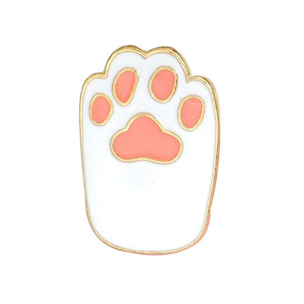 Pin - White With Baby Pink Cat Foot