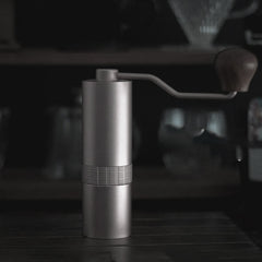 Stainless Steel Coffee Grinder - Light Grey