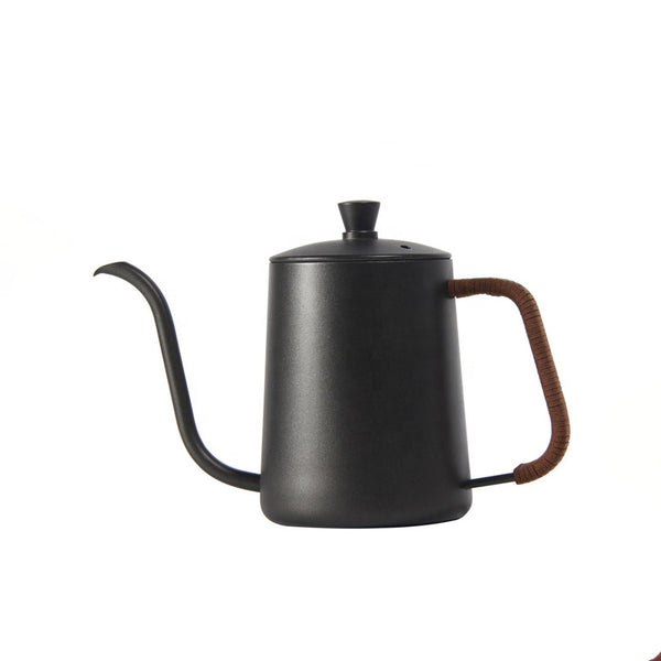 304 Stainless Steel Coffee Kettle  With Leather Handle 350 Ml