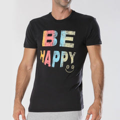 Be Happy T-Shirt - Black