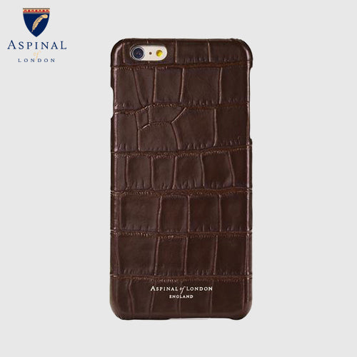iPhone 6S Leather Cover - Amazon Brown Croc
