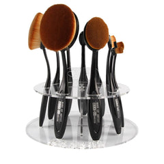 Oval Makeup Brush Holder ( 10 holes )