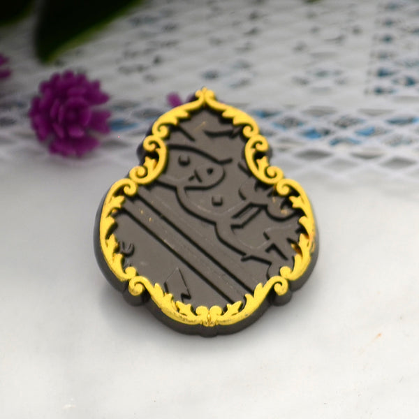 ROMNAH - Magnet Brooch Qandle of the Kaaba - Gold /Black 2