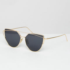 Jeepers Peepers Flat Lens Cat Eye Sunglasses with Gold Frame