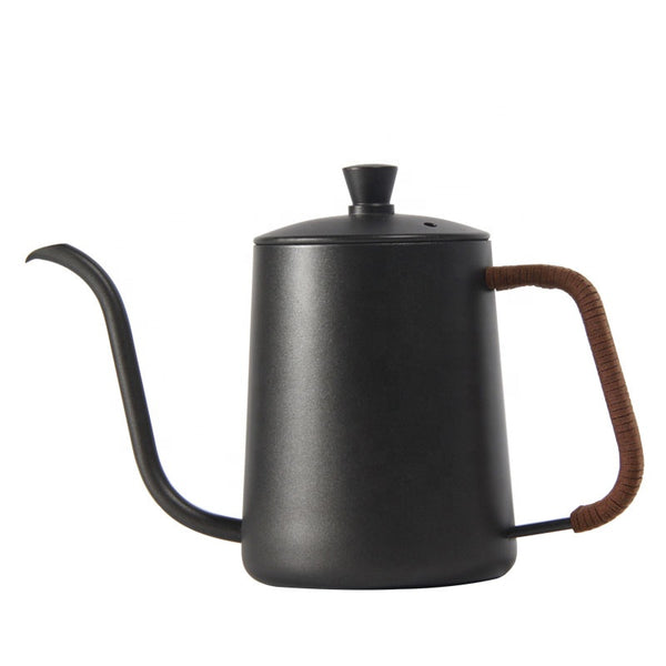 304 Stainless Steel Coffee Kettle  With Leather Handle 600 Ml