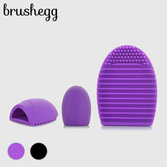 Silicone Cleaning Glove MakeUp Washing Brush Scrubber Board Cosmetic Clean Tool