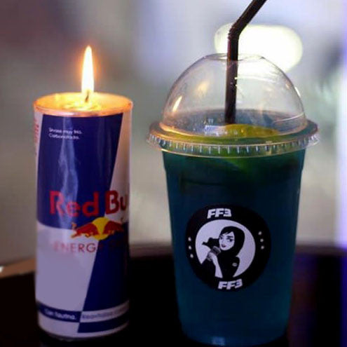 Red Bull Candle