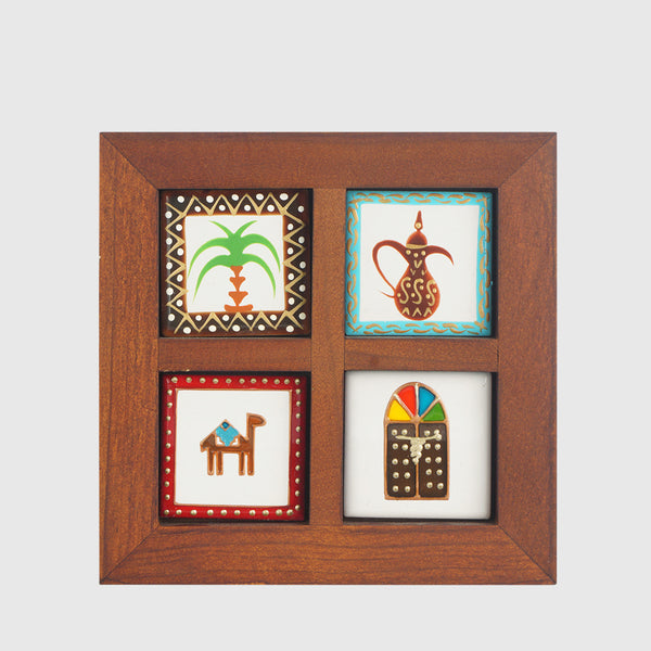 Wooden Photo Frame - 4 space