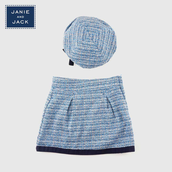 Skirt and Cap - Blue