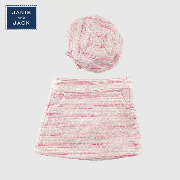 Skirt and Cap - pink