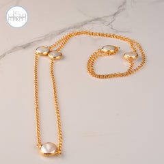 Necklace -  Pearl Stones