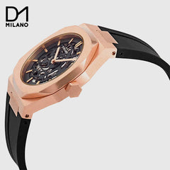 D1 Milano - Black /Rose Gold Skeleton Dial Automatic