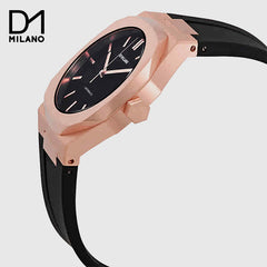 D1 Milano  - Automatic Black / Rose Gold with Black Dial