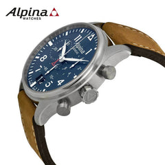 ALPINA - Pilot Chronograph Big Date Swiss Watch with Brown Strap