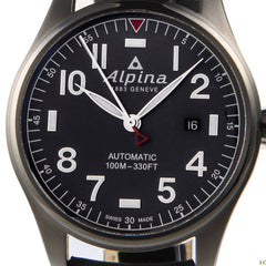 ALPINA - Star Timer Pilot Automatic Black Strap Watch