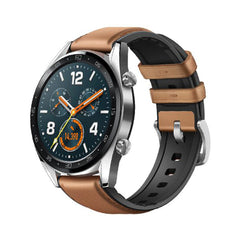 HUAWEI - Gt Classic Stainless Steel Saddle Brown Hybrid Strap Ftn-b19 Smartwatch