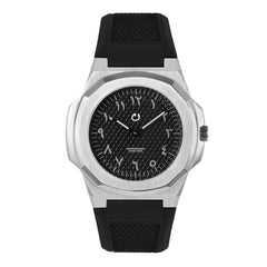 NUUN - Montre Silver Arabic numbers