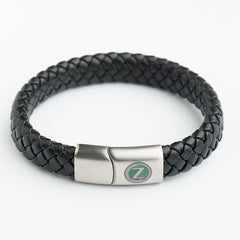 Wide Leather Bracelets - Black